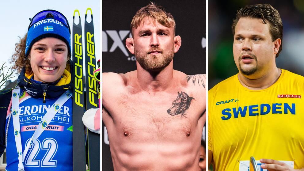 """Hanna Öberg, Alexander """"The Mauler"""" Gustafsson och Daniel Ståhl."""