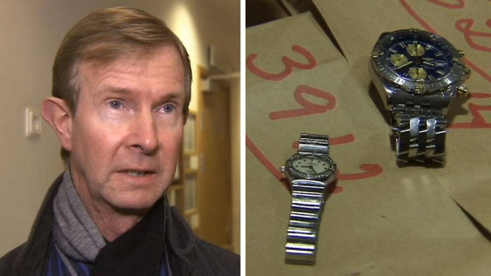 """Polisen går nu ut och varnar julhandlare för ficktjuvar – som börjat rikta in sig på att stjäla lyxklockor. """"Man har lyckats plocka åt sig klockor som är värda uppåt 200.000 kronor"""", säger Peter Enell, vid Citypolisen i Stockholm."""