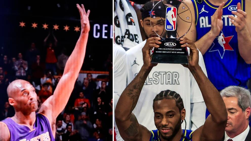Kawhi Leonard fick Kobe Bryant MVP Award under NBA:s all star-match.