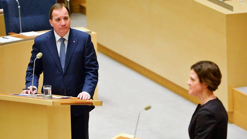 Stefan Löfven (S) och Anna Kinberg Batra (M) kämpar om statsministerposten i valet 2015.