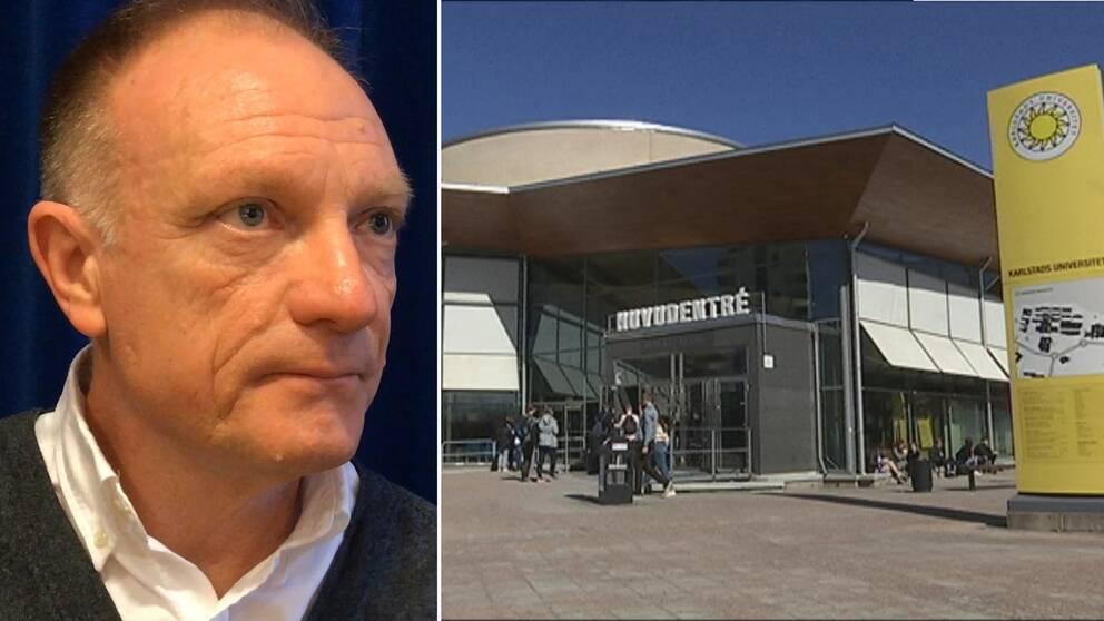 Lappar på universitetet varnadeför terrordömd man
