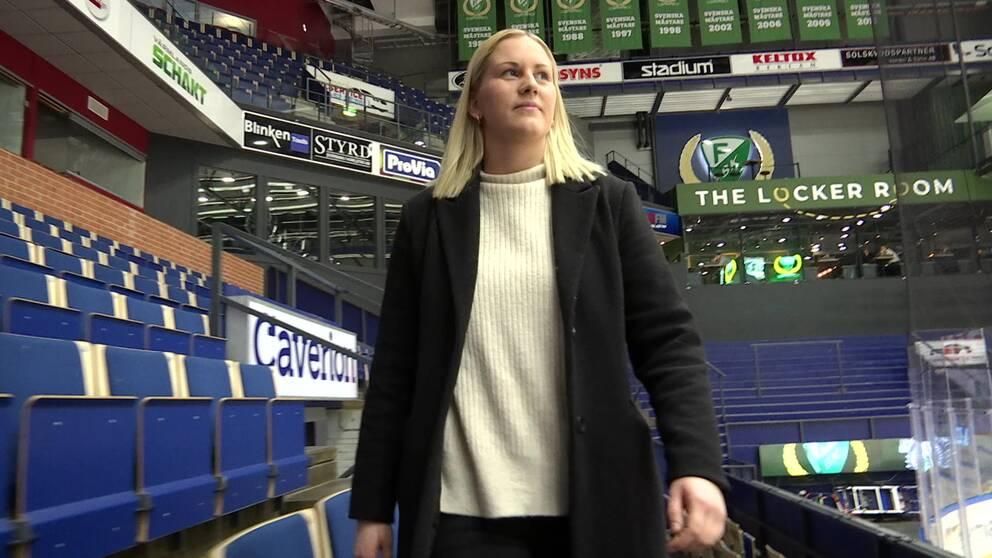 Jennifer Axelsson, lagkapten i Färjestad.