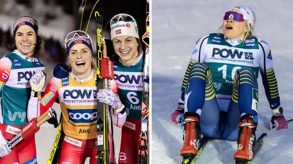 Det blev en norsk trippel i Åre – Jonna Sundling slutade fyra.
