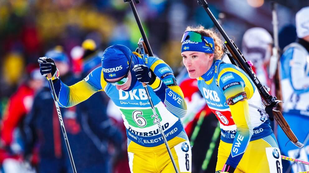 Sebastian Samuelsson och Hanna Öberg.