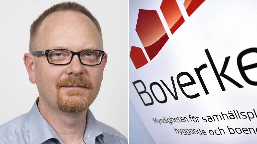 Jörgen Heidenberg och en bild på Boverkets logga
