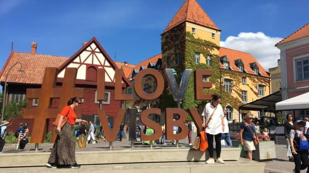 Donnersplats, torg, Visby, Gotland, turister, turism,