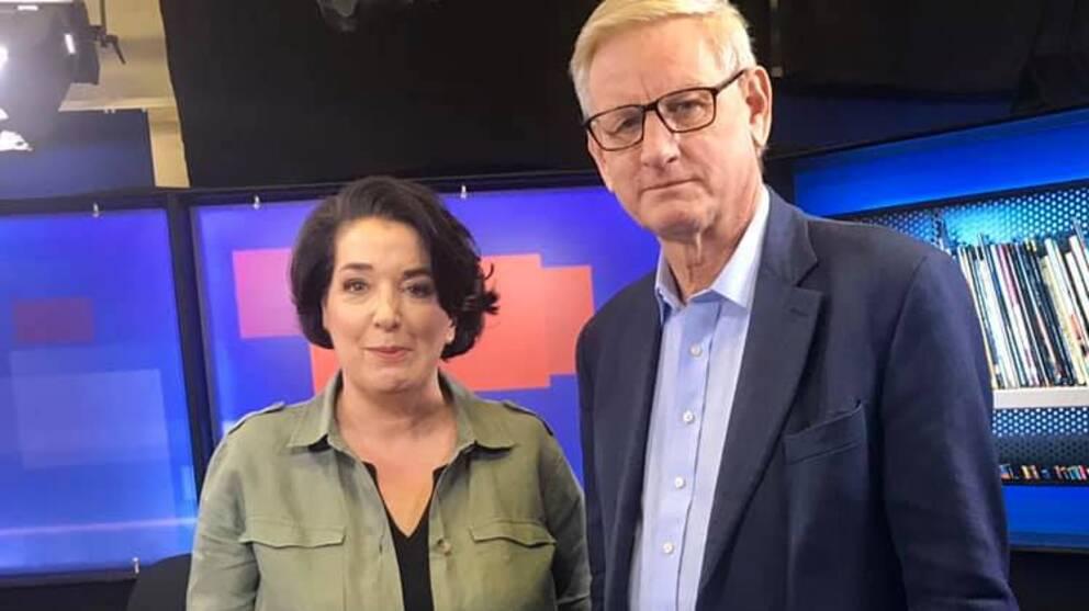 SVT:s Sharon Jåma intervjuar Carl Bildt om hans nya bok.