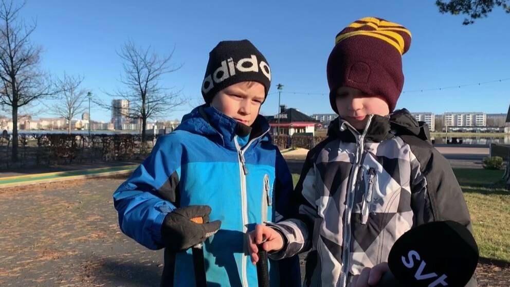 I klippet hör du vad Dante Jonasson och Vincent Sjögren tycker om att spela golf istället för att åka skridskor.