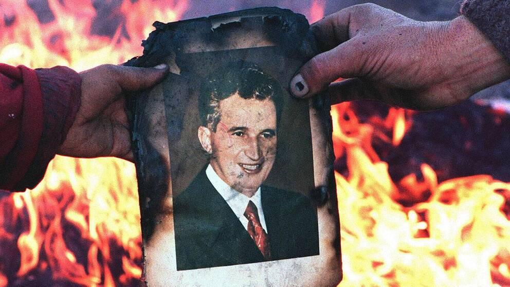 Den rumänske diktatorn Nicolae Ceacescu avrättades 1989.