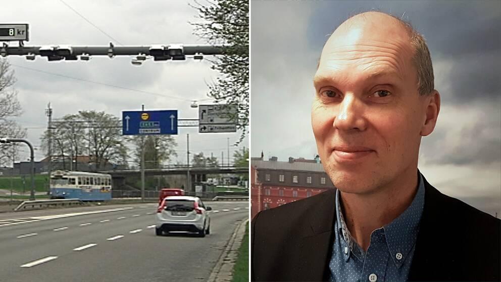 Projekt Lundbyleden, som man ser på bilden, är en del av det Västsvenska paketet. Nu bromsar Trafikverket projektet. Jörgen Einarsson, direktör för Trafikverket i Väst, i bild till vänster, vet inte när projektet blir klart.