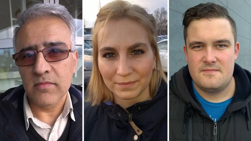 SVT träffade flera väljare på stan i bland annat Göteborg. Meningarna om överenskommelsen och att det inte blir något nyval var delade.Från vänster: Kazem Meshkintoreh, Tajana Hettinger och Christian Karlsson.