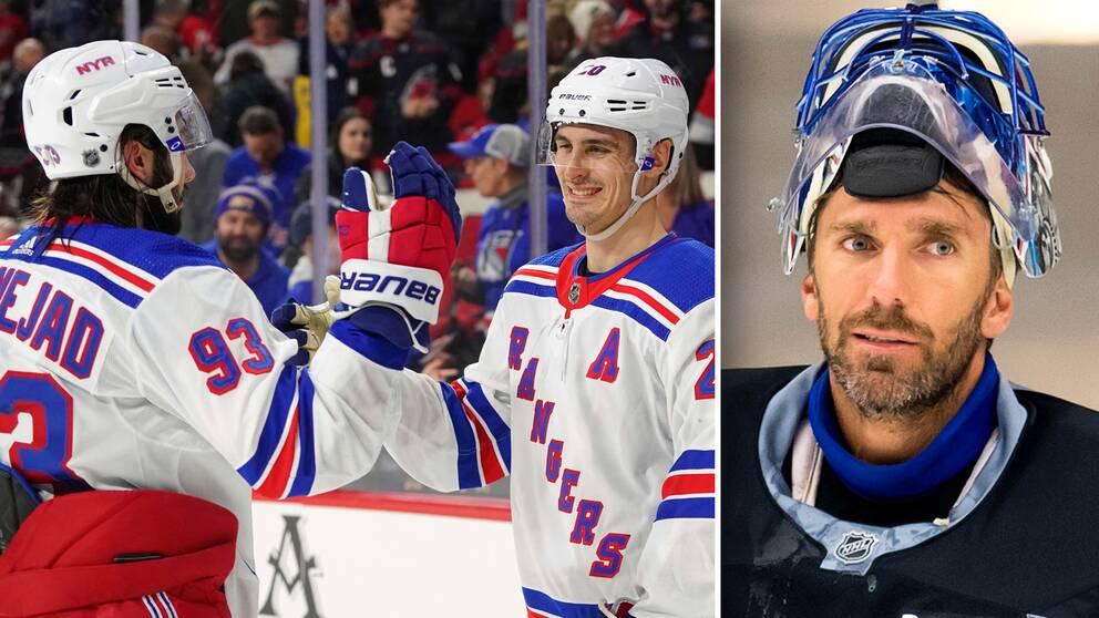 Henrik Lundqvist var utanför matchtruppen när Rangers slog Carolina i natt.
