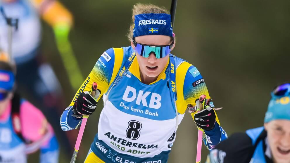 Hanna Öberg under damernas masstart.