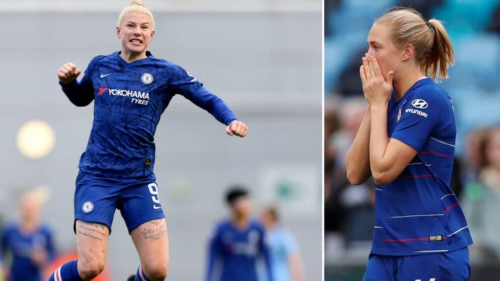 """Trots mål av Bethany England och Magdalena Eriksson fick Chelsea """"bara"""" oavgjort mot Manchester City."""