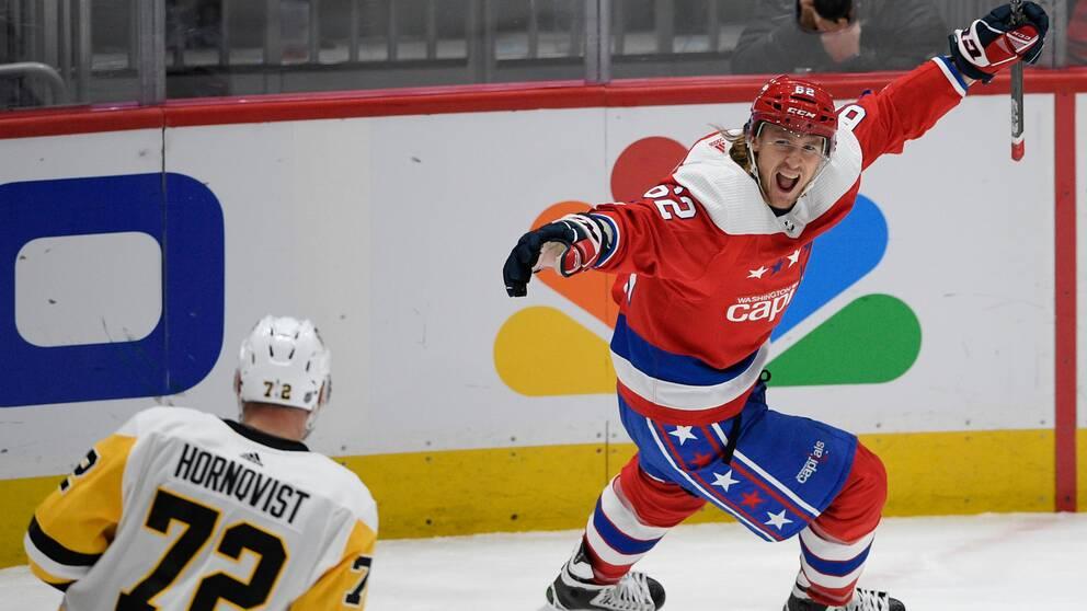 Carl Hagelins Washington besegrade Patric Hörnqvists Pittsburgh.