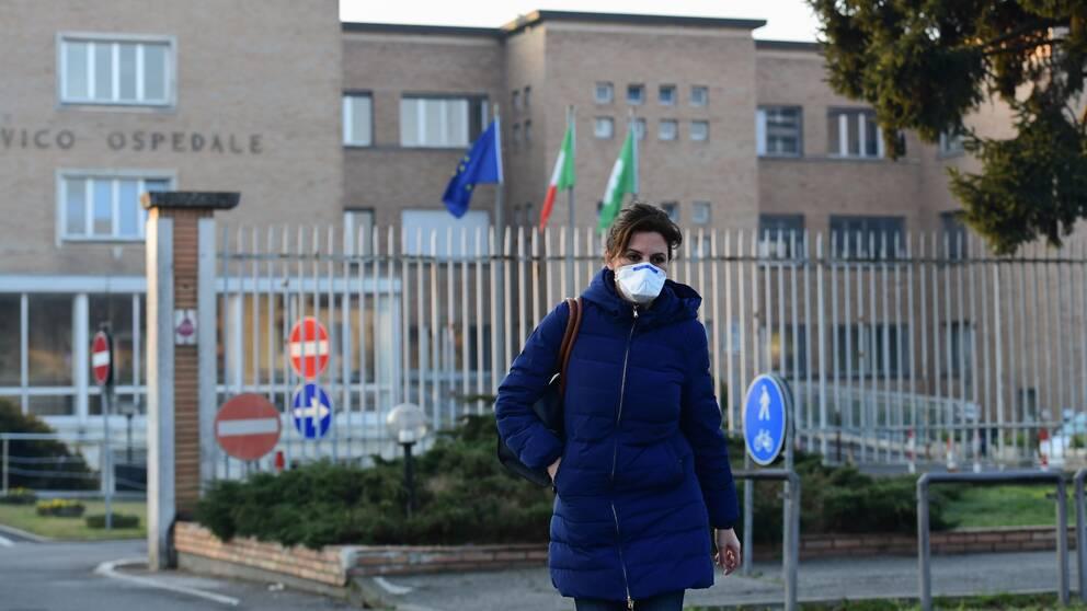 Över 150 smittade av coronaviruset i Italien