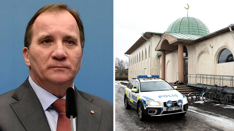 En moské i stadsdelen Svartbäcken i norra uppsala utsattes tidigt på nyårsdagen för ett attentat då brandbomb kastades mot och klotter ritades på fasaden. Ingen person skadades och elden självsläckte snabbt. Nu fördömer statsminister Stefan Löfven å det skarpaste det som hänt.