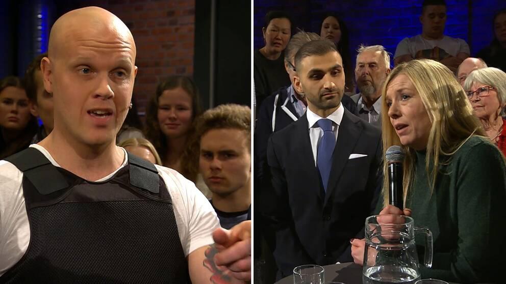 Joakim Lamotte, Abraham Zeito och Patricia Daoud i Sverige möts: Direkt.