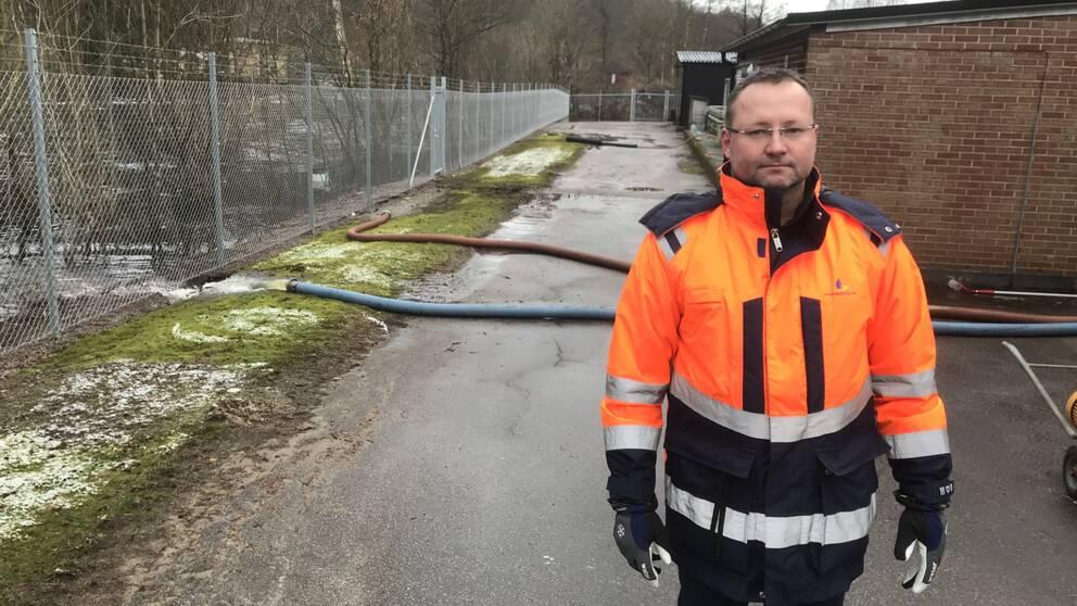 Mattias Hultin, avdelningschef på Laholmsbuktens VA.
