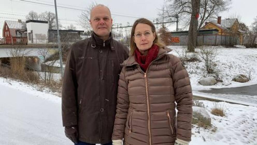 Peter Evansson (S) och Camilla Arvidsson (S)