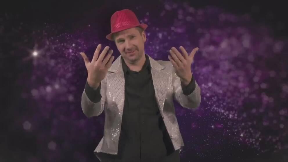 De teckenspråksgestaltar Melodifestivalens final