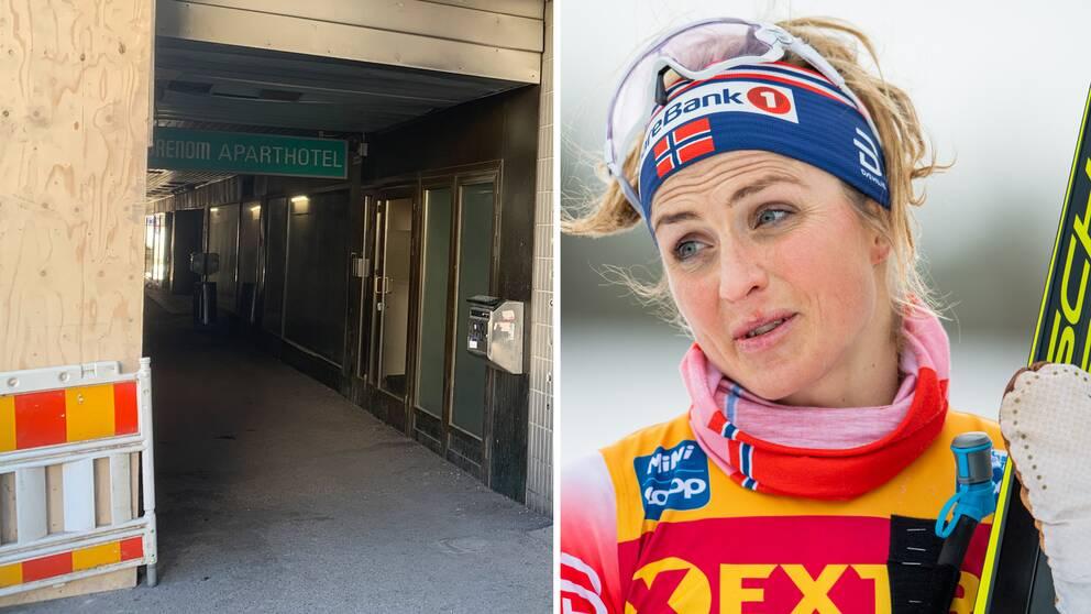 Therese Johaug och Norges hotell under världscuptävlingarna i Lahtis.