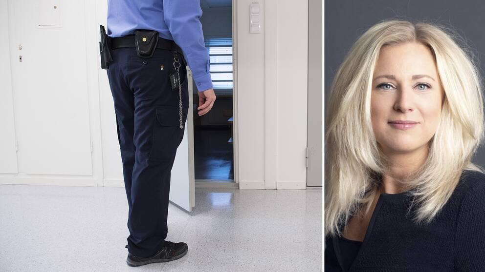 """""""Jag kan för mitt liv inte förstå varför vi inte låter anhöriga lämna in pengar under kontrollerade formerom man nu menar att syftet är att motverka penningtvätt"""", säger försvarsadvokat Anna Dahlbom Langley. Bilden till höger visar en cell i Kronobergshäktet."""