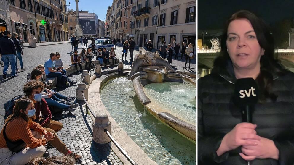 Jennifer Wegerup, SVT:s utrikesreporter i Italien