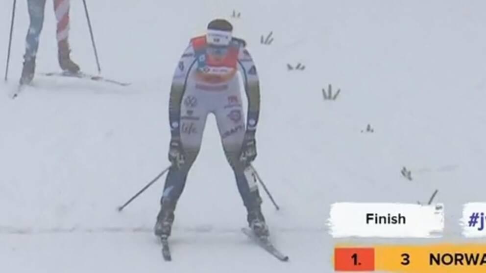 Moa Olsson åkte i mål på fjärde plats.