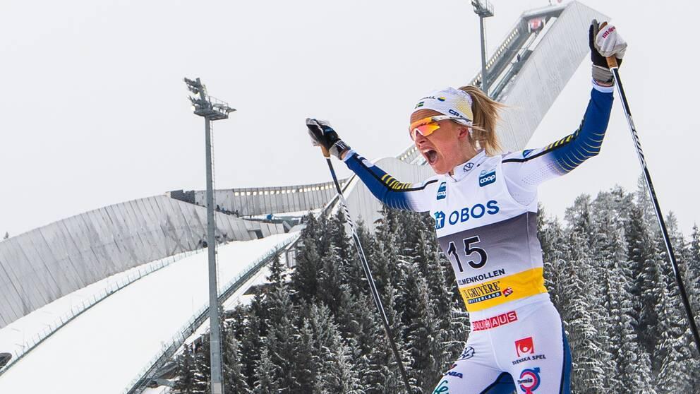 Frida Karlsson vann i Holmenkollen – en gåshudsseger.