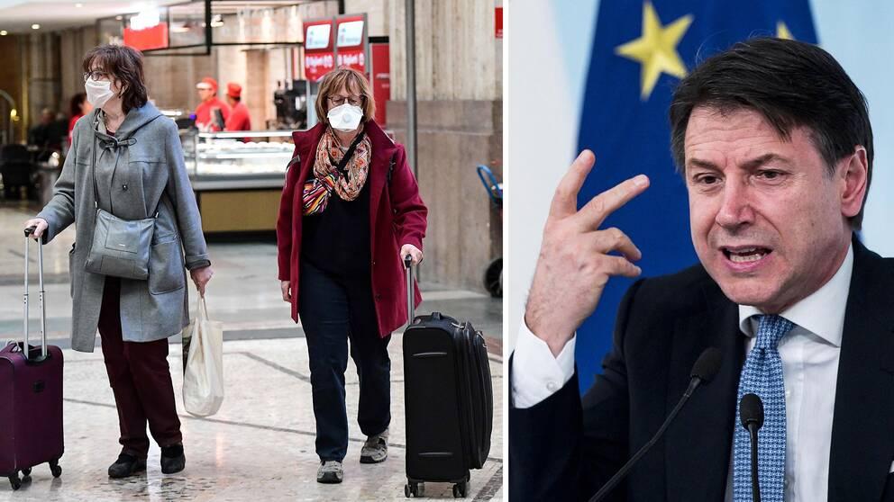 Italiens premiärminister: Vi måste ta ansvar för alla invånares hälsa