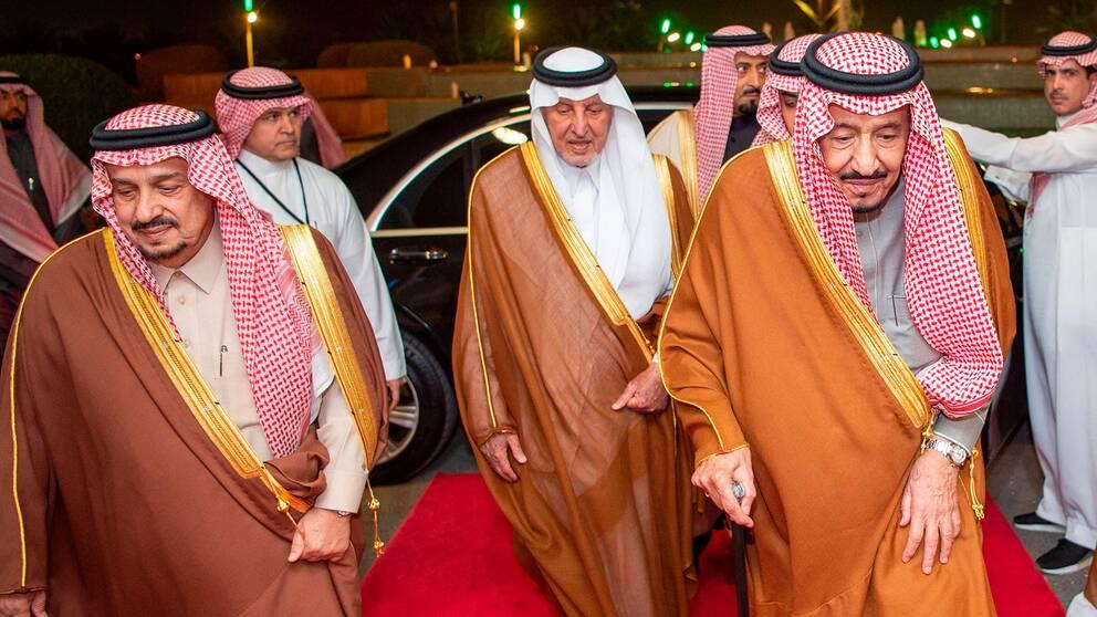 Stats- och regeringschef kung Salman bin Abd al-Aziz Al Saud i Saudiarabien.