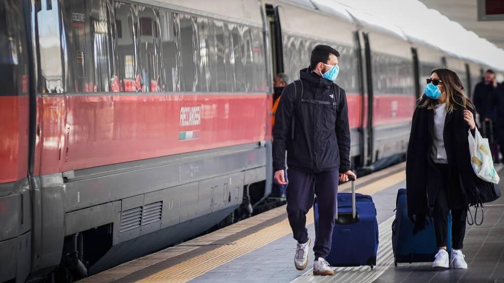 tåg från Milano.