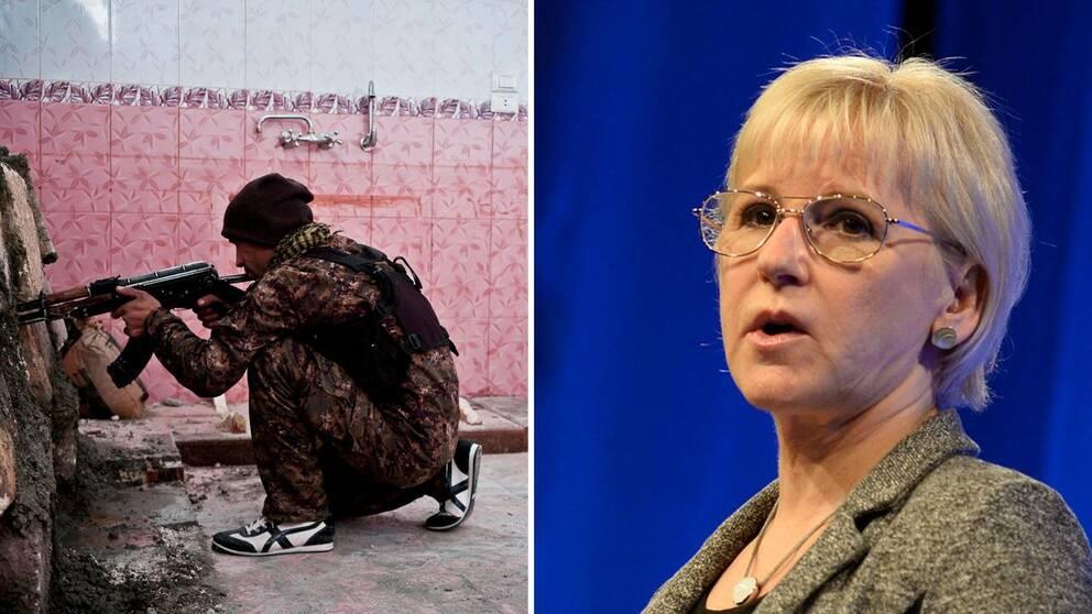 Utrikesminister Margit Wallström på Folk och Försvars konferens i Sälen.