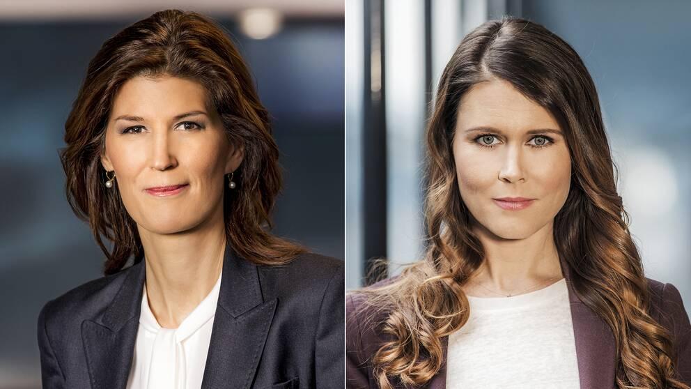 Programledarna Cecilia Gralde och Malin Lundgren