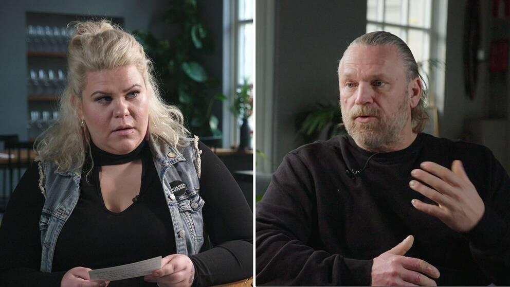 """Karin """"Kajjan"""" Andersson och Michael Fridebäck."""