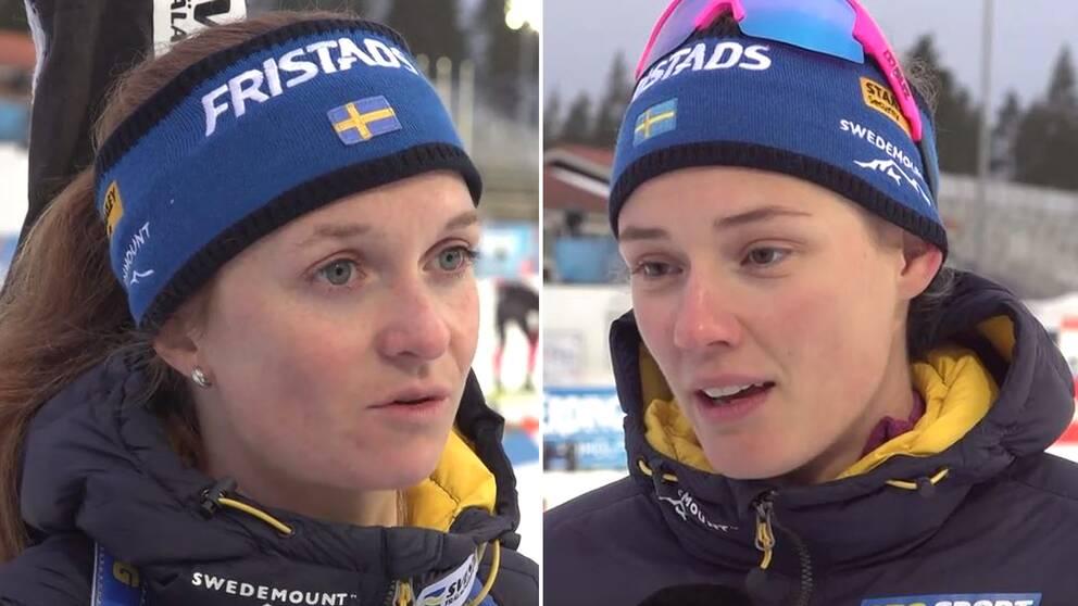 Mona Brorsson och Hanna Öberg på plats i Kontiolahti.