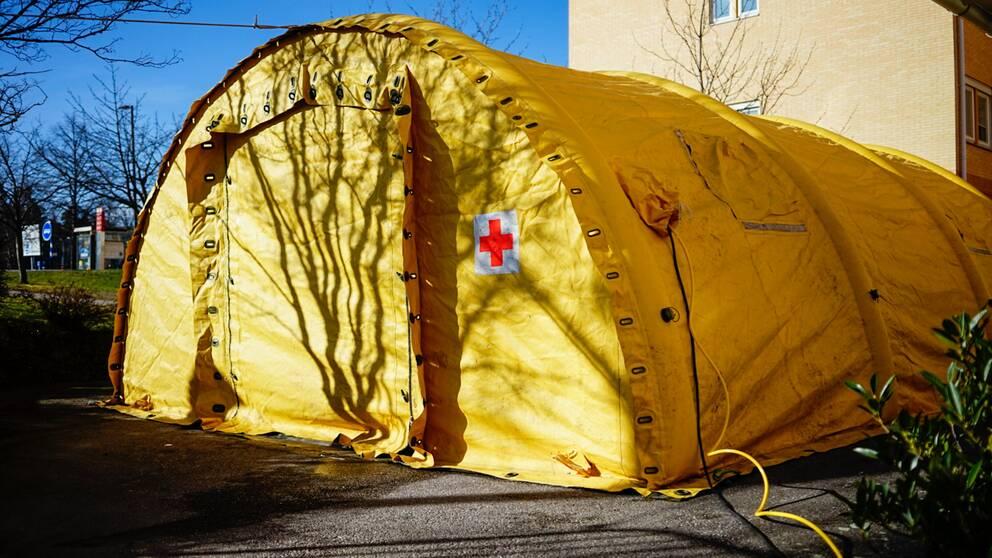 Corona, Coronatält, provtält, US, universitetssjukhuset Linköping