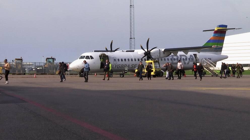 Flygplan, Bra, Halmstads flygplats, Halmstad city airport