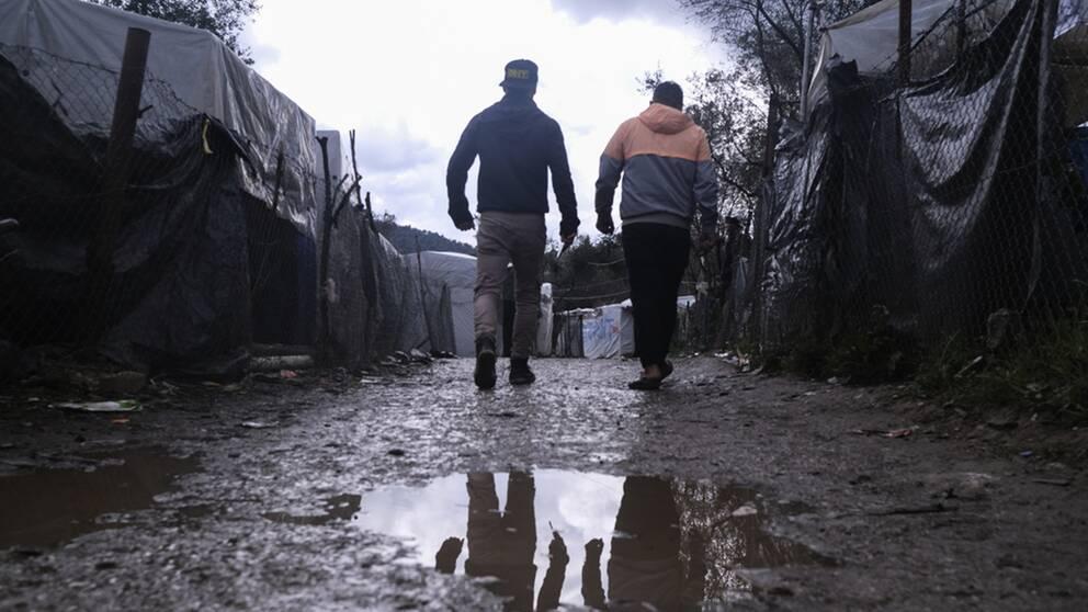20000 migranter uppehåller sig i lägret Moria på den grekiska ön Lesbos. Om de åker tillbaka till sina hemländer erbjuds de 21000 kronor av EU.