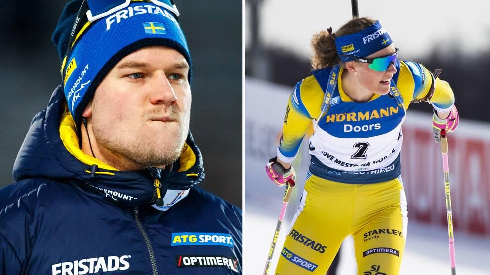 Huvudtränare Johannes Lukas och Hanna Öberg.