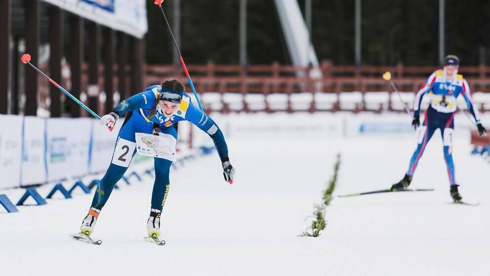 Magdalena Olsson spurtvann och säkrade EM-guldet