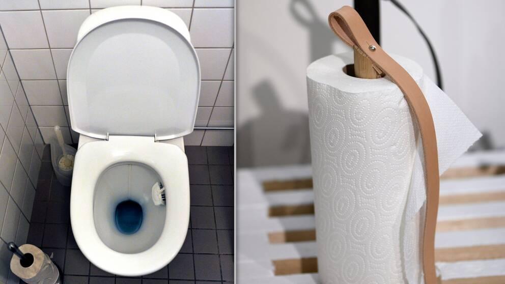 toalett, hushållspapper