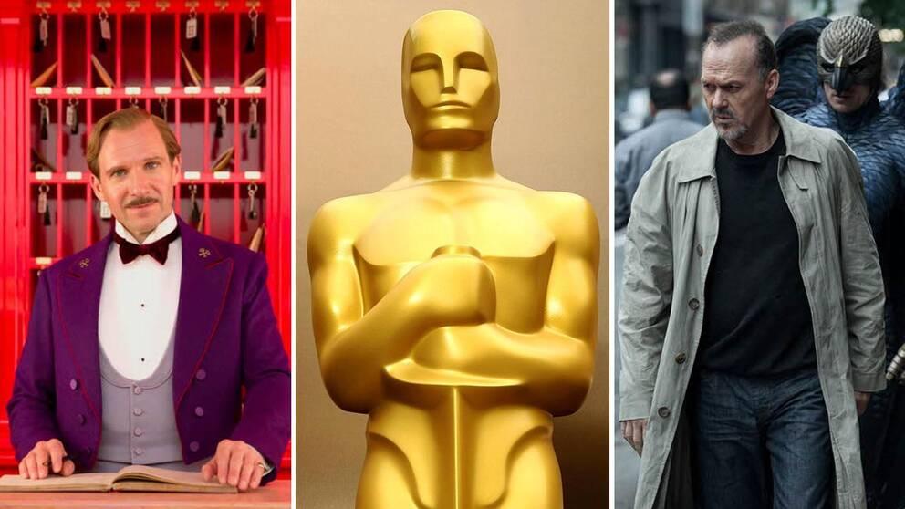 """""""The Grand Budapest Hotel"""" och """"Birdman"""" har chans på flest Oscars."""