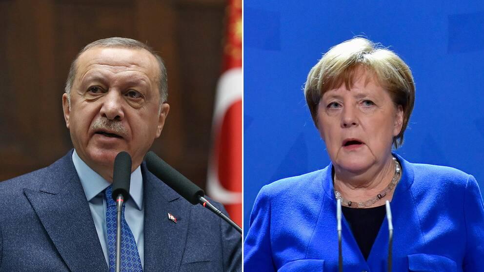 Erdogan och Merkel