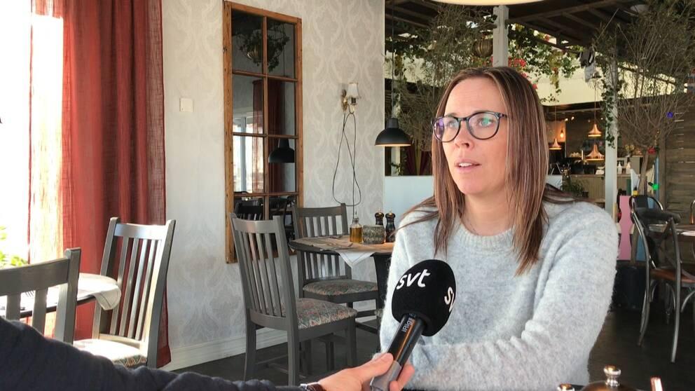 Restaurangägaren Maria Sandström Åbom