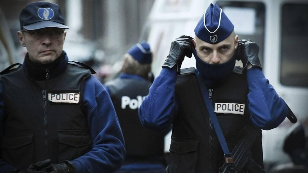 Polis i Verviers, Belgien.