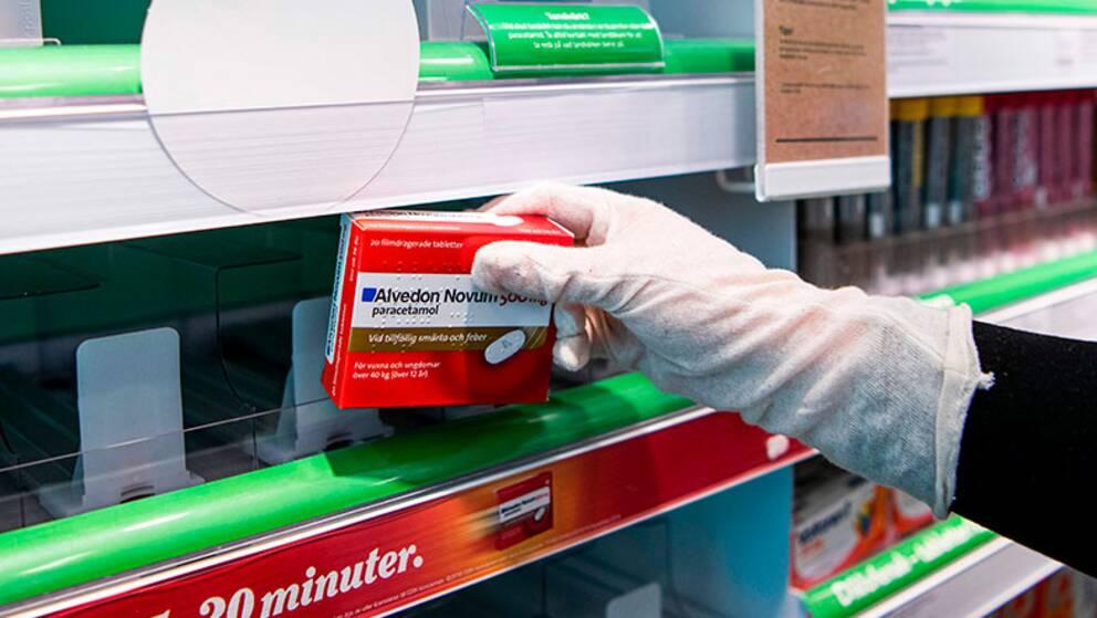 Febernedsättande läkemedel med paracetamol