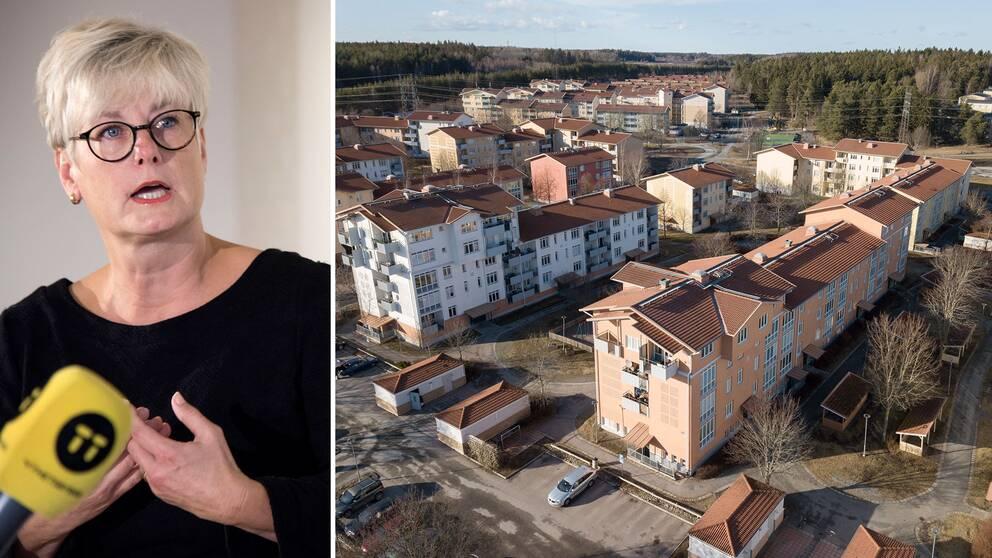 Marie Linder, Hyresgästföreningen: Man ska inte bli av med sitt hyreskontrakt om man hamnar på sjukhus och missar en hyresinbetalning
