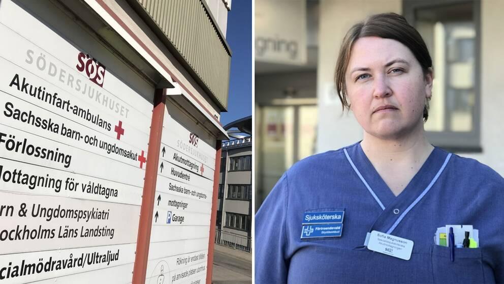 """Specialistsjuksköterskan Sofia Magnusson: """"Vi får jobba mer och snabbare"""""""